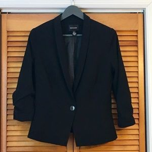 DKNY Black 3/4 Sleeve Blazer